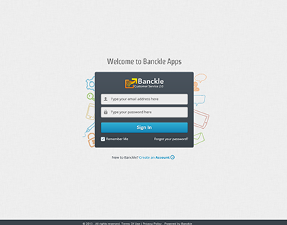 Various web app screens