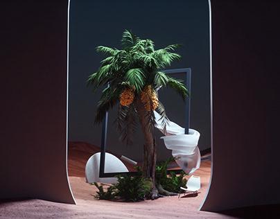 Golden Date Palm Tree