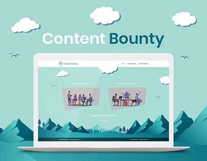 Content Bounty Website UI Design