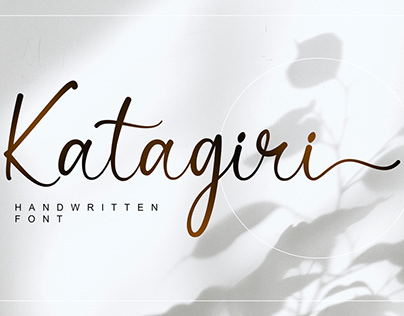 Free|Katagiri Handwritten Font