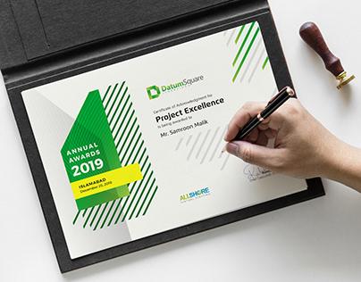 Annual Awards Certificate