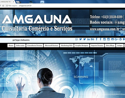 Site www.amgauna.com.br