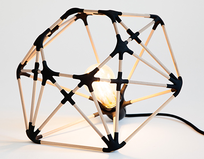 making of icosa lamp By Libero Rutilo