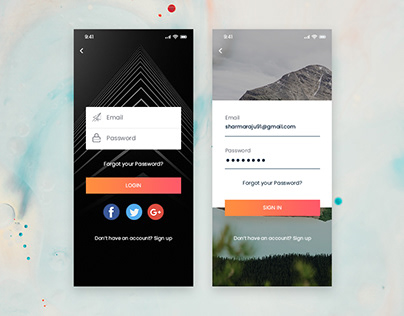 Login Screen Design