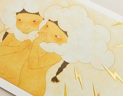 中田郁美藝術微噴 印刷設計