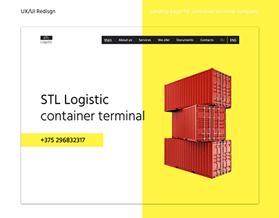 Redesign website for logistic company STL LOGISTIC
