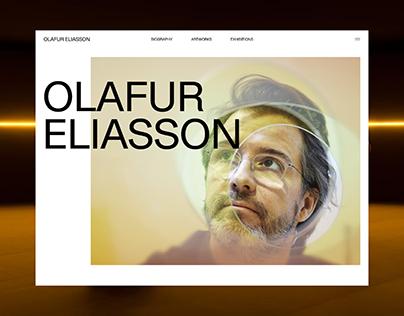 Olafur Eliasson — Website redesign