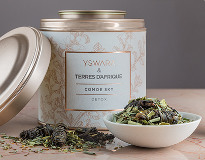 Packaging for Terres d'Afrique and Yswara Teas