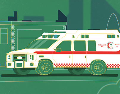 Ambulance car, style frame for my new project