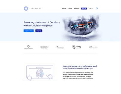 Landing Page Design - Eyes of AI