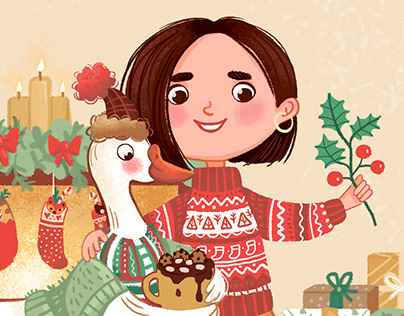 Christmas postcard for Pani Panchoha shop