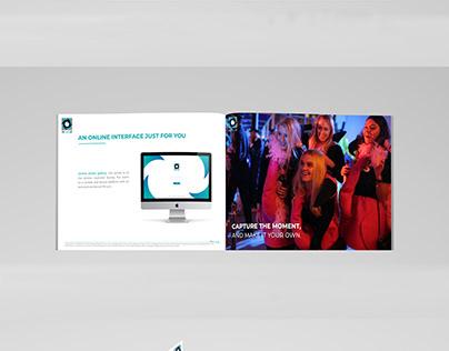 Brochure commerciale pour PicMeUp Photobooths Geneva