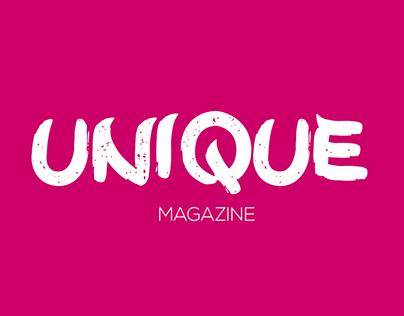 Unique Magazine - Editorial Design