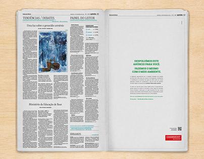 Anúncio Semana do meio ambiente - Odebrecht Agro