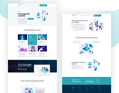 Artificial Intelligence Website UI UX Design