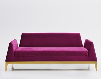 Emerald sofa + ottoman