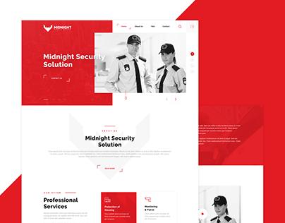 Midnight Security - Website Design
