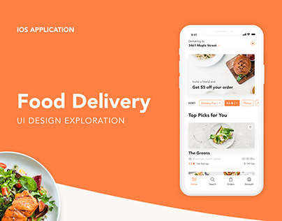 UI Exploration | Food Delivery APP Concept