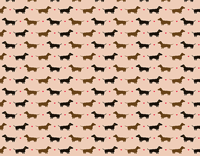 Pixel Dachshund Shirt - Pattern Design and Sewing