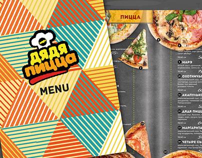 pizza restaurant design menu and photo