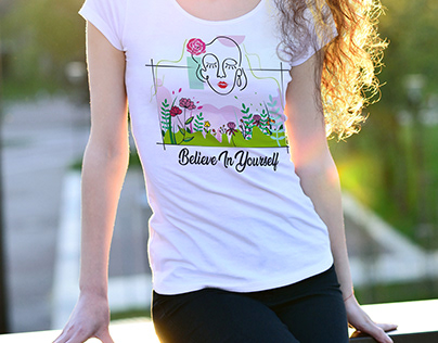 T shirt design focusing mental health and positivity