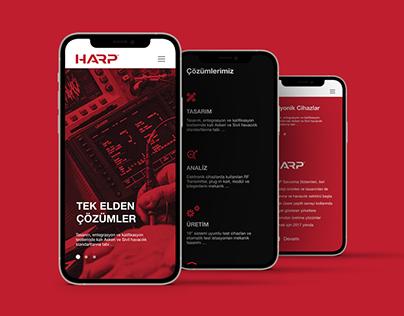 HARP SAVUNMA UI/UX / WEB ARAYÜZ TASARIMI