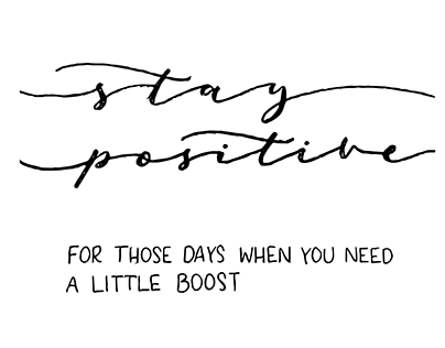 Hand Lettered Positivity