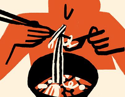 RO: How to eat ramen?