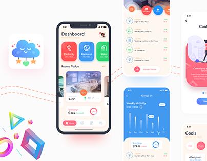 Smart Home iOS App UI/UX Design
