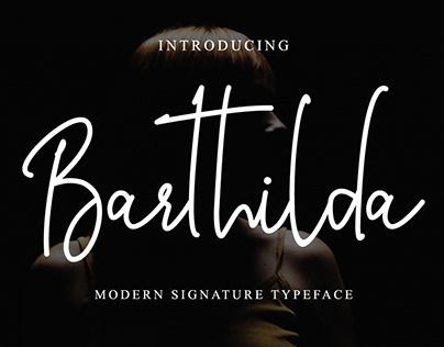 Barthilda Modern Signature Typeface