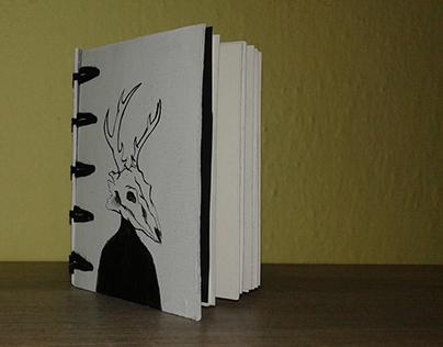Animal Skull Inspired Notebook