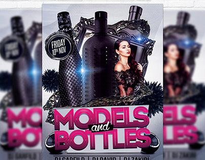 Models VS Bottles - Premium Flyer Template + Facebook