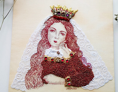Embroidery Isabella of Angouleme/ Medieval Heroines