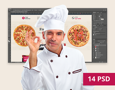 Chef Delivery — Delivery or Takeaway Food PSD Template