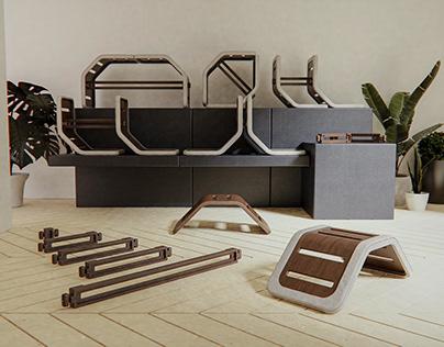 Daneman - A Modular Furniture System