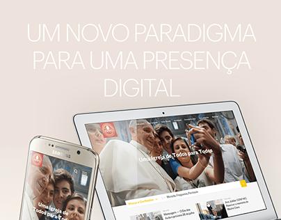 Patriarcado de Lisboa website (Winning pitch - PT)