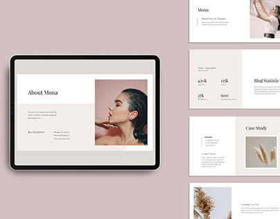 MONA - Media Kit Branding Keynote Template Design