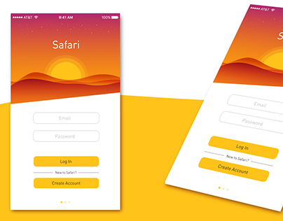 Mobile App Safari (for people, who like traveling)