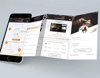 Poket Bank Mobile App Redesign - Banque Populaire