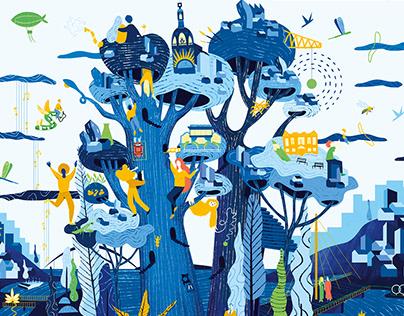 Carte de voeux 2020 ville de Nantes