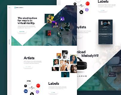 VR music app landing page