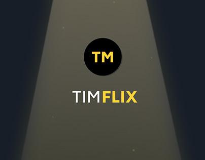 Application fictive TimFLIX