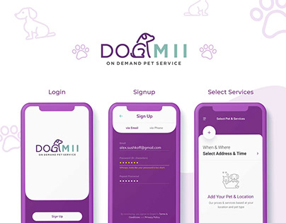 Pet Care App Design