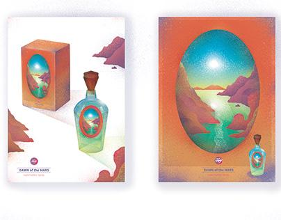 「熒惑黎明淡香水」產品包裝, 設計 | Dawn of the Mars