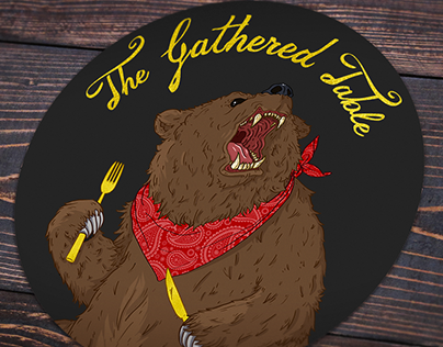 The Gathered Table // Brand Illustration