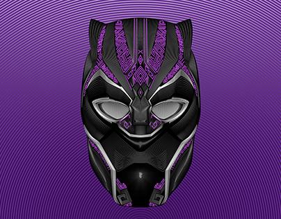 Black Panther Vector Line Blend Illustration