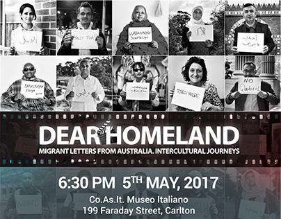 Dear Homeland Event Branding for IMA