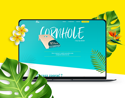 Aloha — cornhole game website