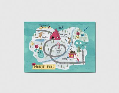 North Pole Postcard