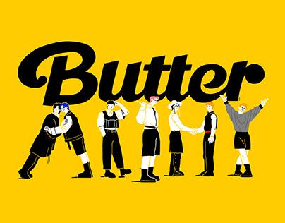 BTS butter fan art